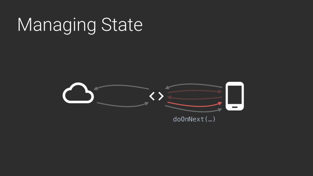 Managing State doOnNext(…)