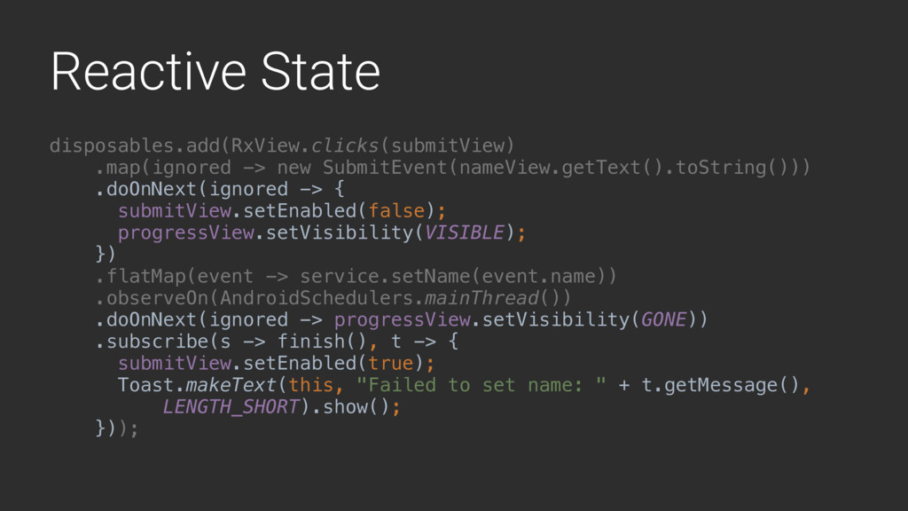 Reactive State disposables.add(RxView.clicks(su...
