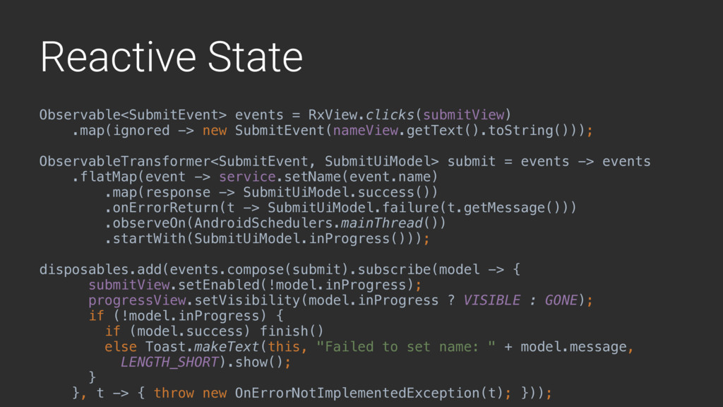 Reactive State Observable<SubmitEvent> events =...