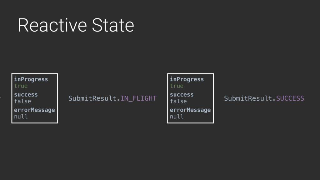 Reactive State T inProgress true success false ...