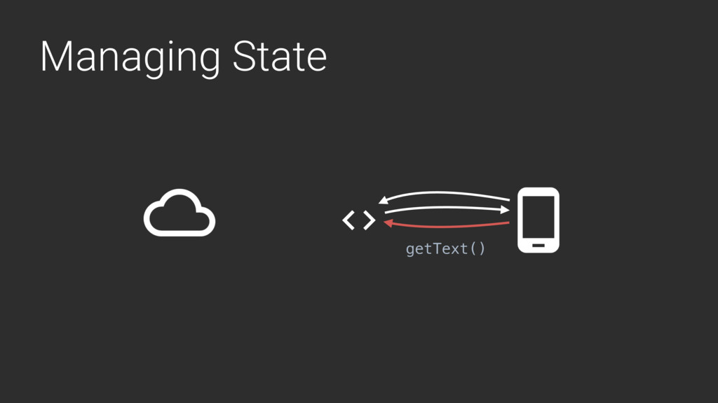 Managing State getText()