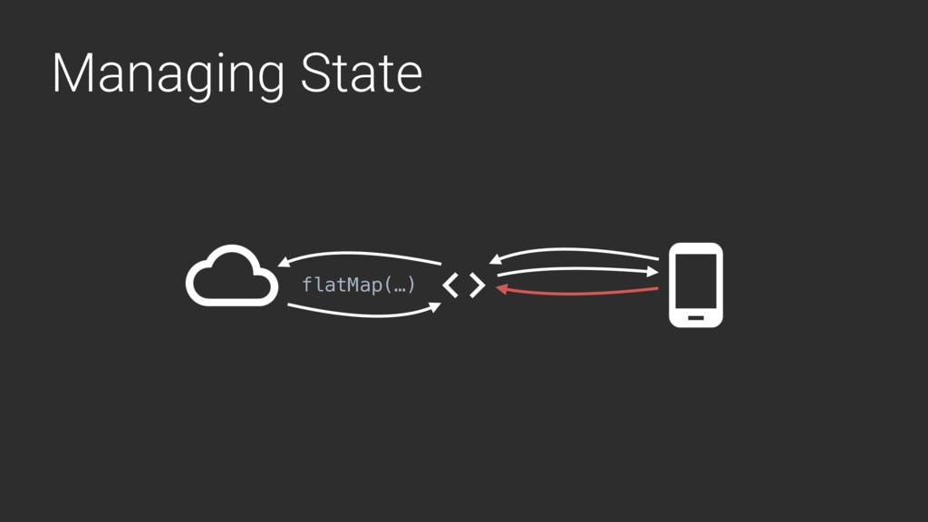 Managing State flatMap(…)