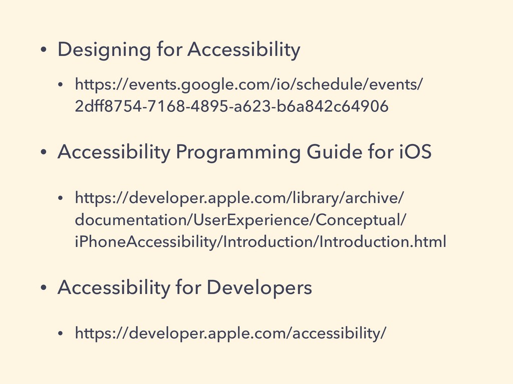 • Designing for Accessibility • https://events....