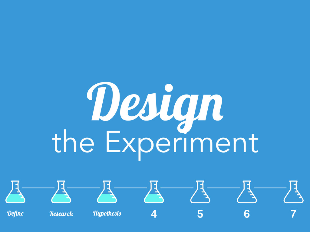 Design the Experiment 6 7 Define Research Hypoth...