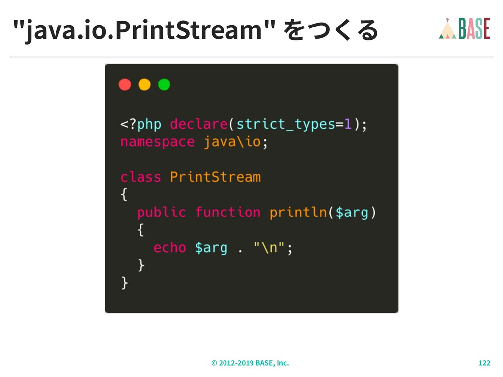 "© - BASE, Inc. ""java.io.PrintStream"""