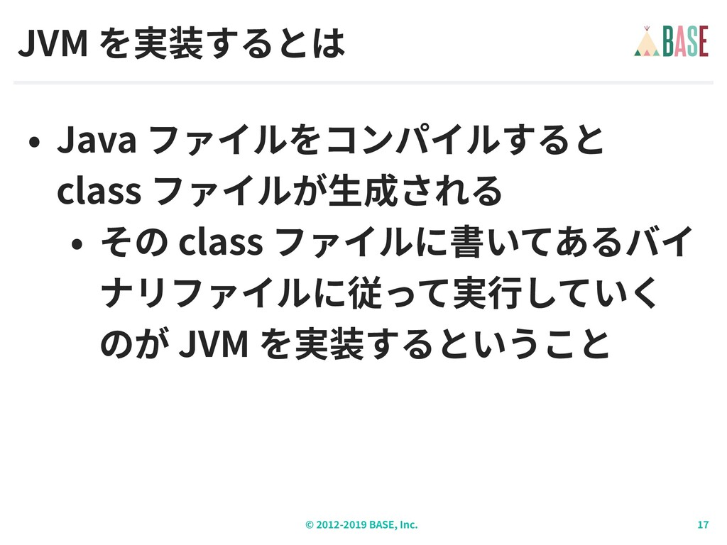 © - BASE, Inc. JVM Java class class JVM