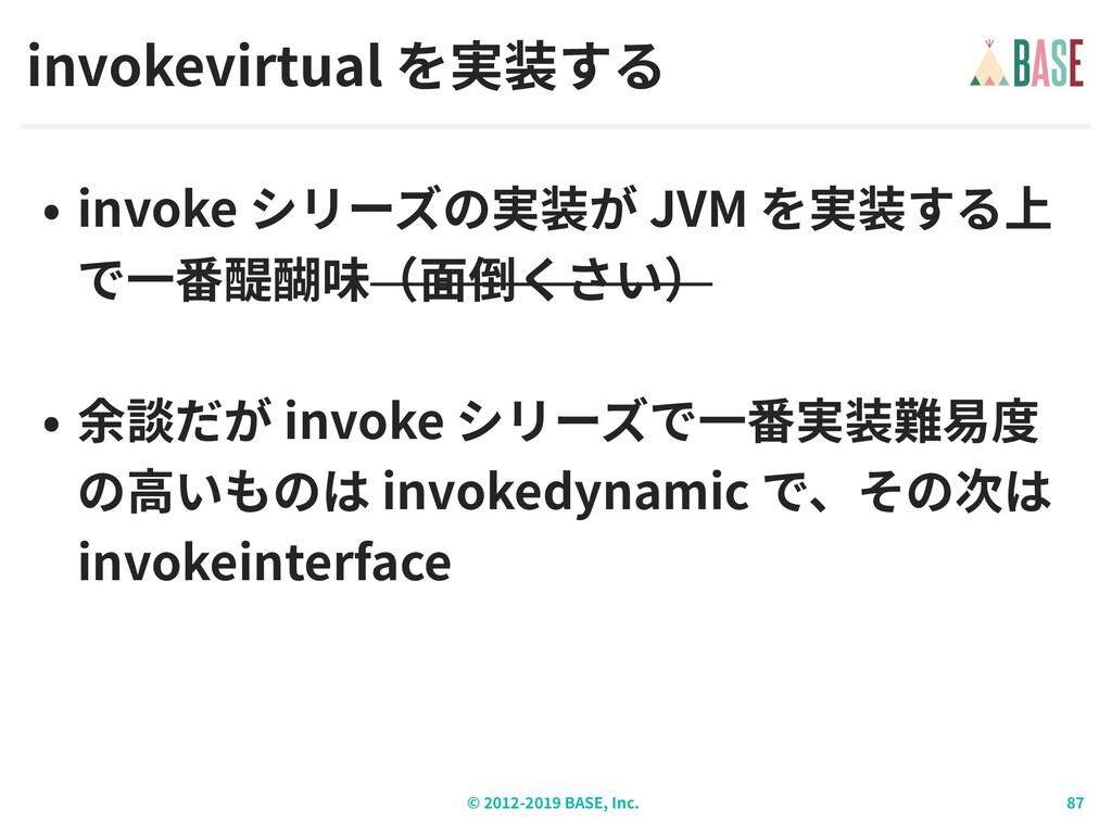 © - BASE, Inc. invokevirtual invoke JVM invoke ...