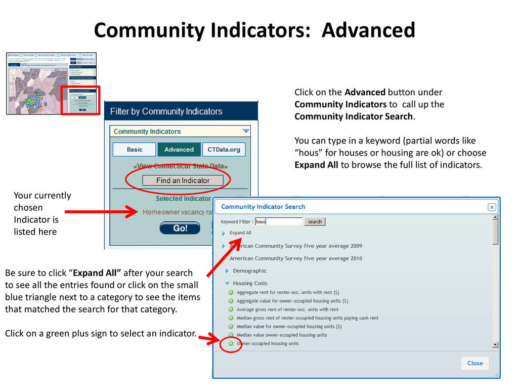 Click on the Advanced button under Community In...