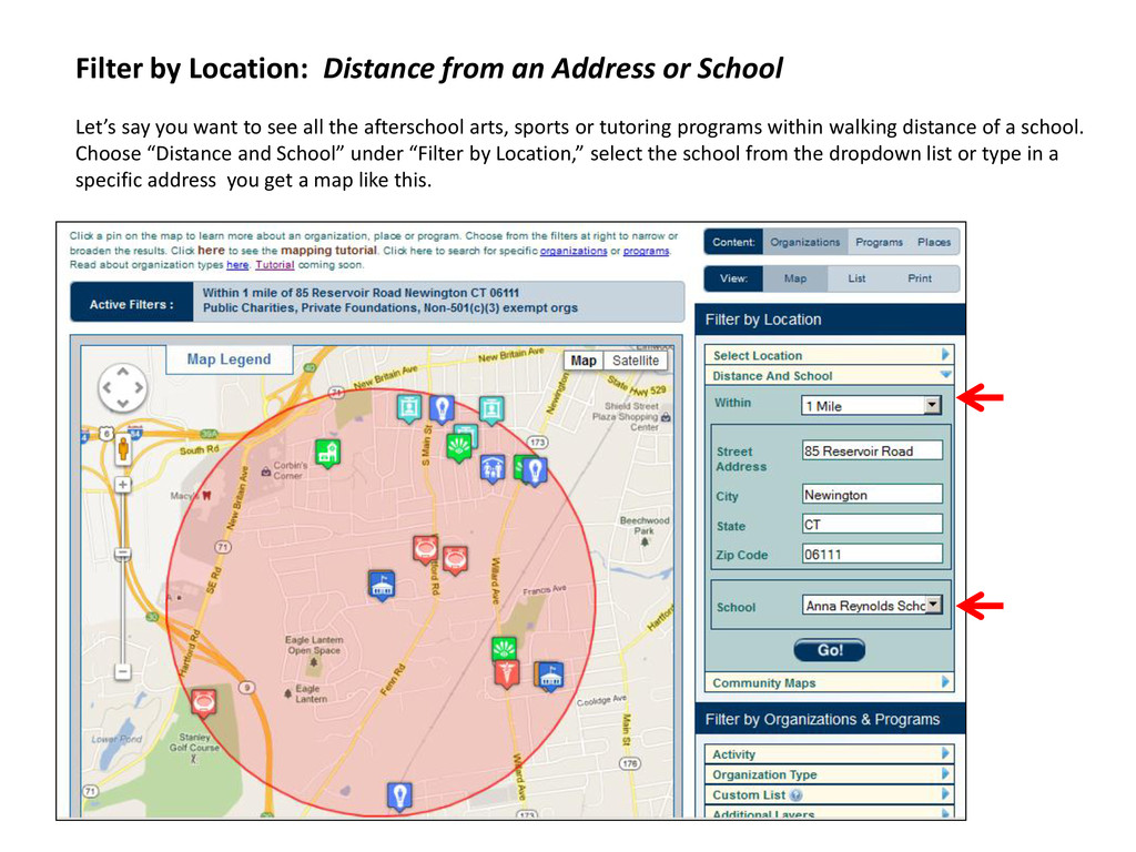 Filter by Location: Distance from an Address or...