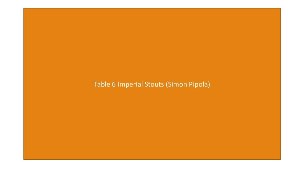 Table 6 Imperial Stouts (Simon Pipola)