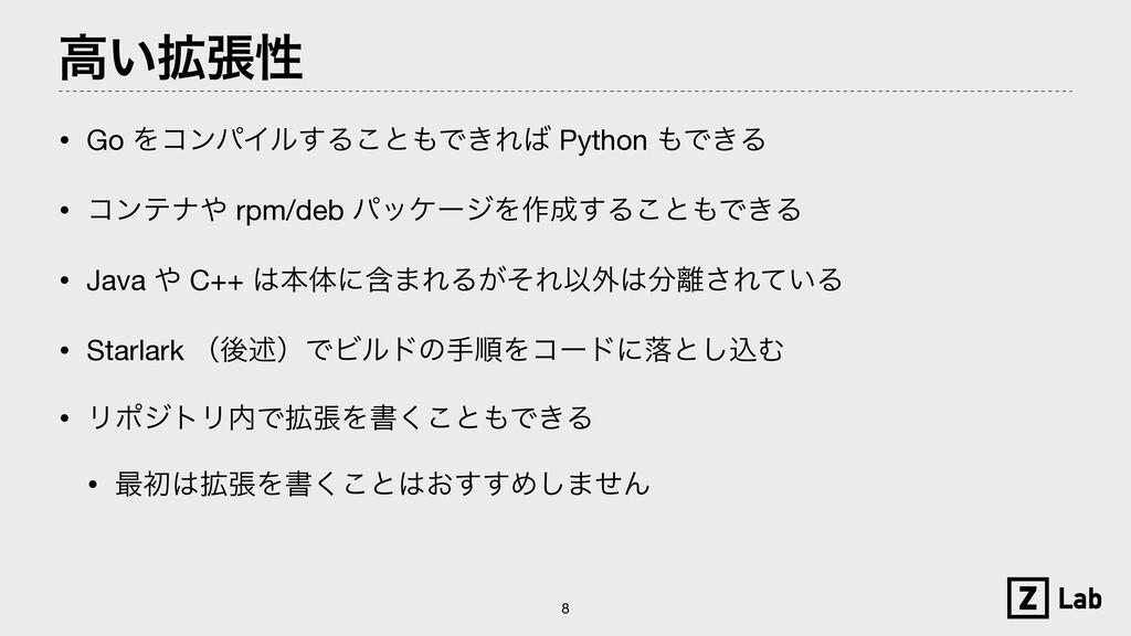ߴ͍֦ுੑ • Go ΛίϯύΠϧ͢Δ͜ͱͰ͖Ε Python Ͱ͖Δ  • ίϯςφ...