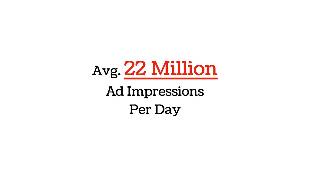 Avg. 22 Million Ad Impressions Per Day