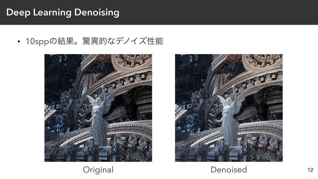Deep Learning Denoising • 10sppͷ݁ՌɻڻҟతͳσϊΠζੑೳ 1...