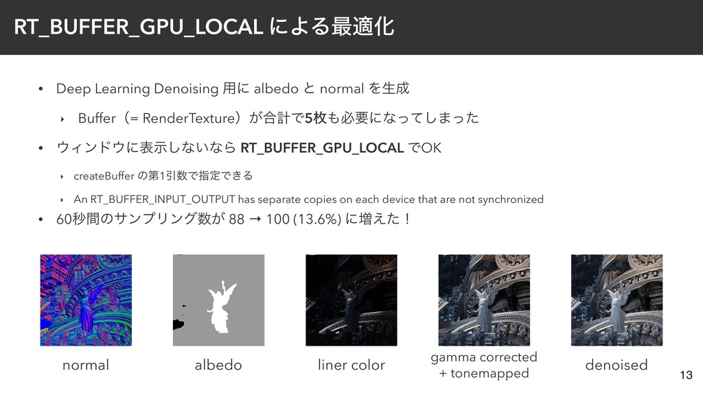 • Deep Learning Denoising ༻ʹ albedo ͱ normal Λੜ...