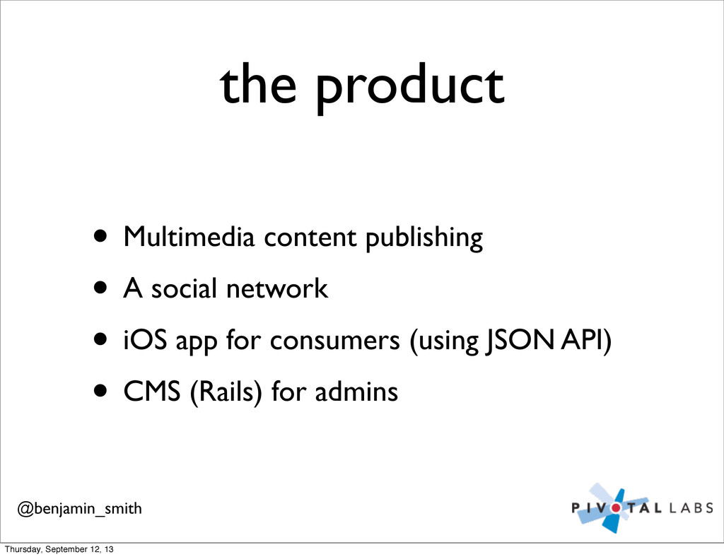 the product • Multimedia content publishing • A...