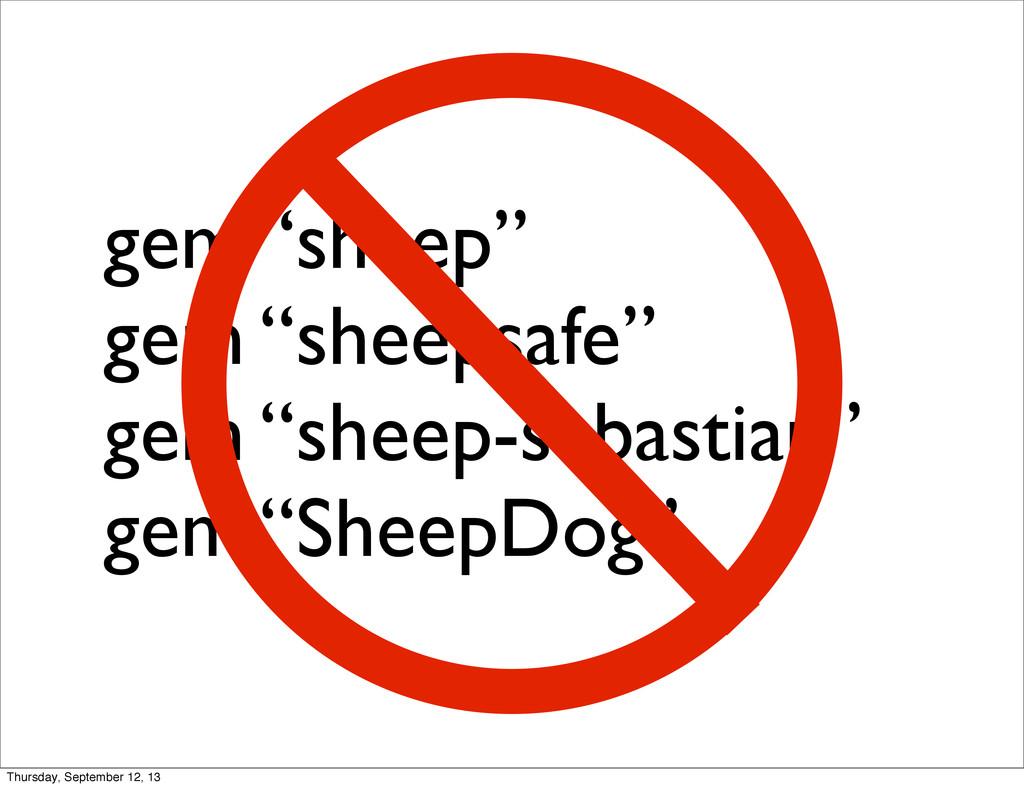 """gem """"sheep"""" gem """"sheepsafe"""" gem """"sheep-sebastia..."""