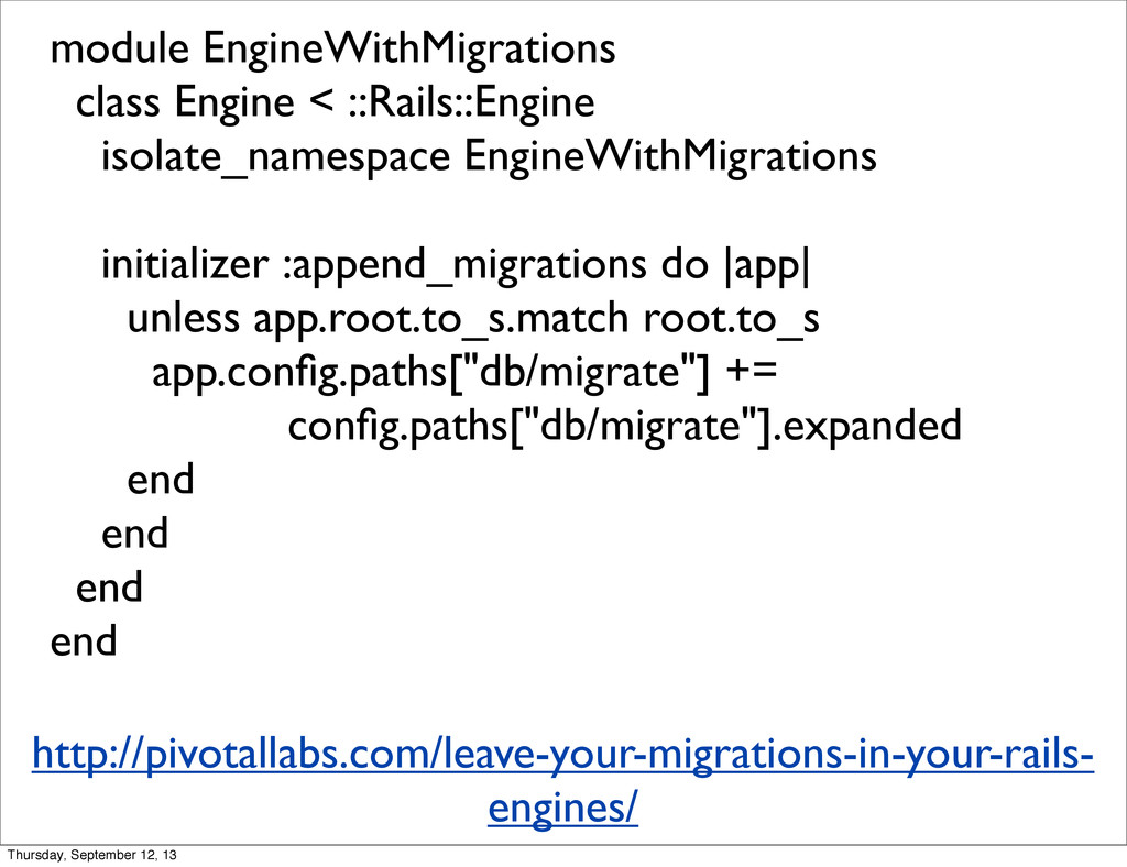module EngineWithMigrations class Engine < ::Ra...