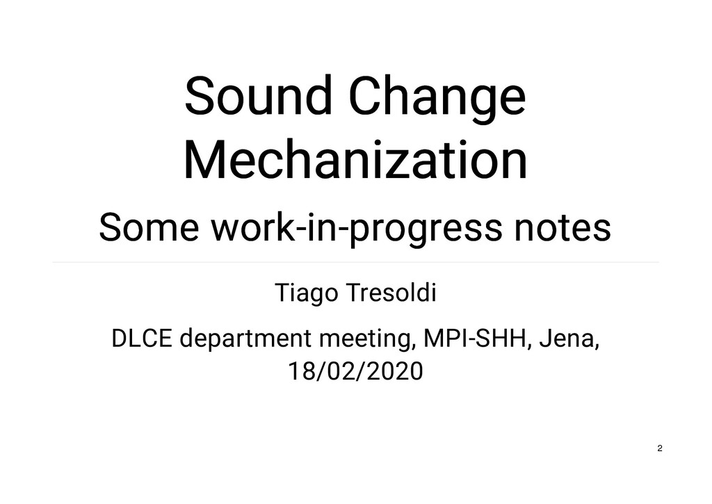 Sound Change Sound Change Mechanization Mechani...