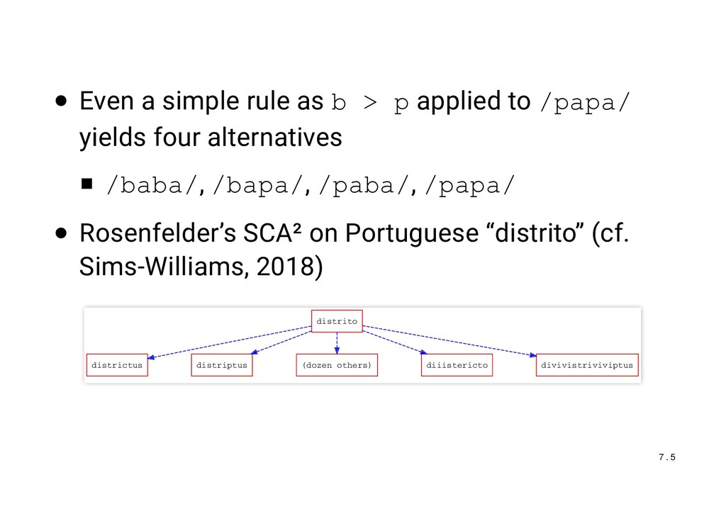 Even a simple rule as b > p applied to /papa/ y...