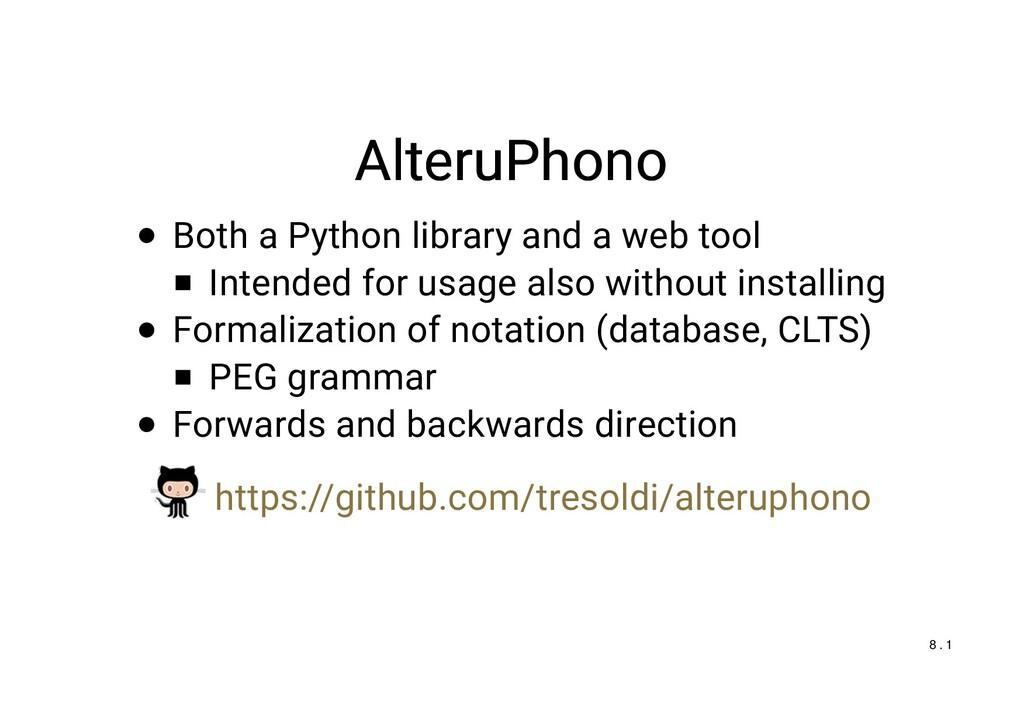 AlteruPhono AlteruPhono Both a Python library a...