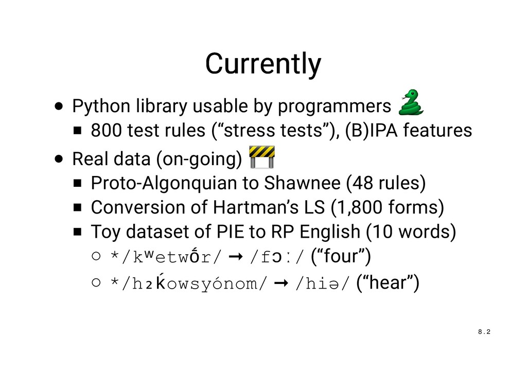 Currently Currently Python library usable by pr...