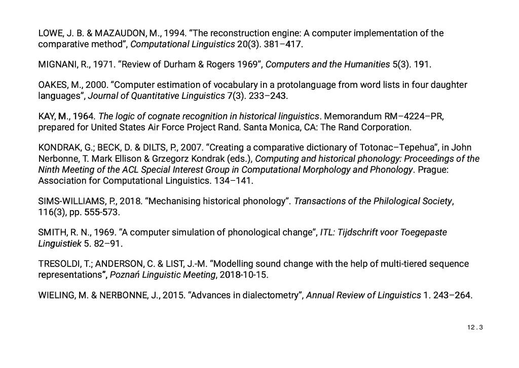 "LOWE, J. B. & MAZAUDON, M., 1994. ""The reconstr..."