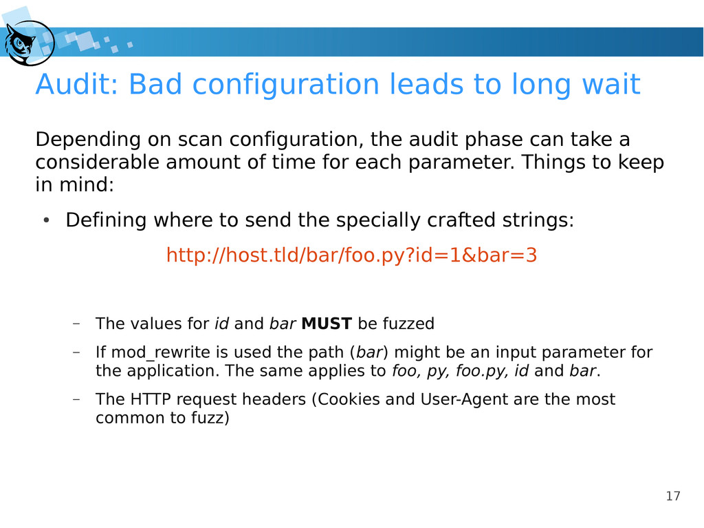 17 Audit: Bad configuration leads to long wait ...