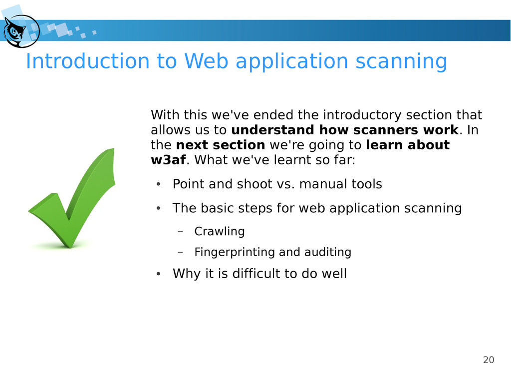 20 Introduction to Web application scanning Wit...