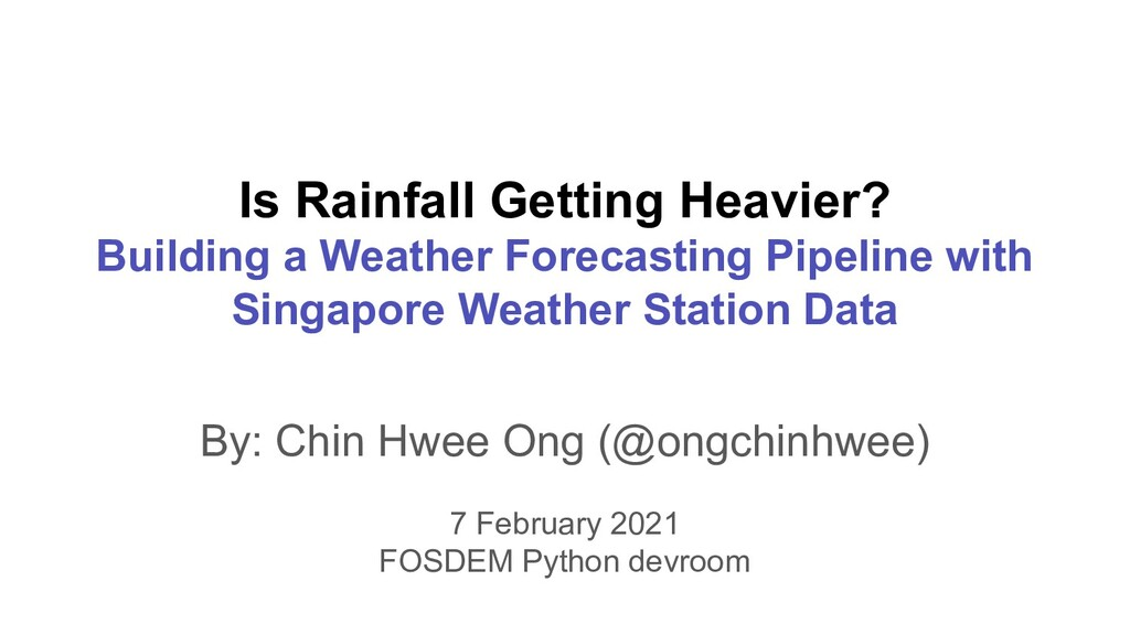 Is Rainfall Getting Heavier? Building a Weather...