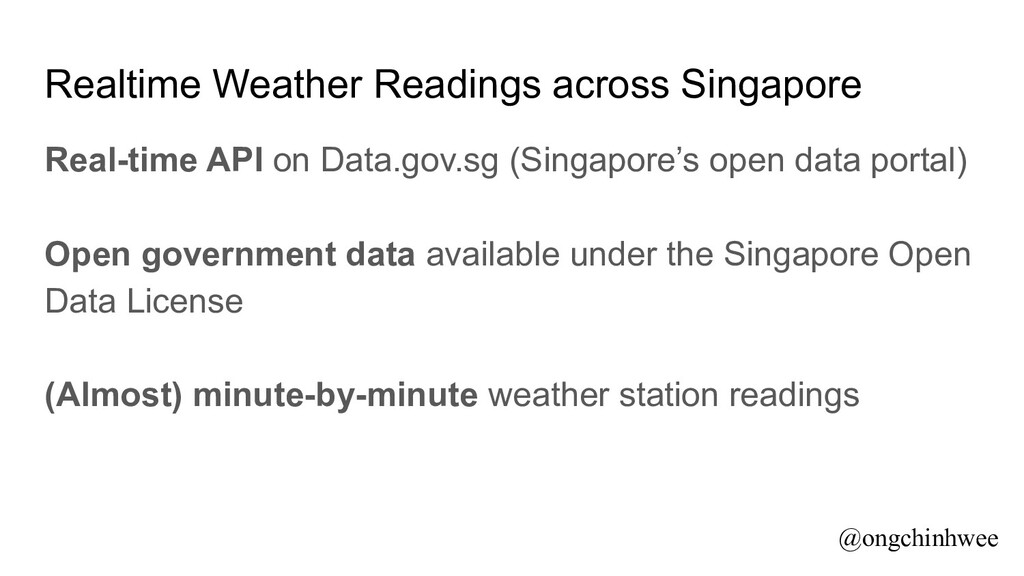 Realtime Weather Readings across Singapore Real...