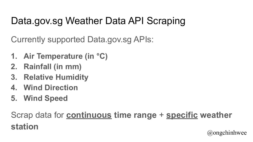 Data.gov.sg Weather Data API Scraping Currently...