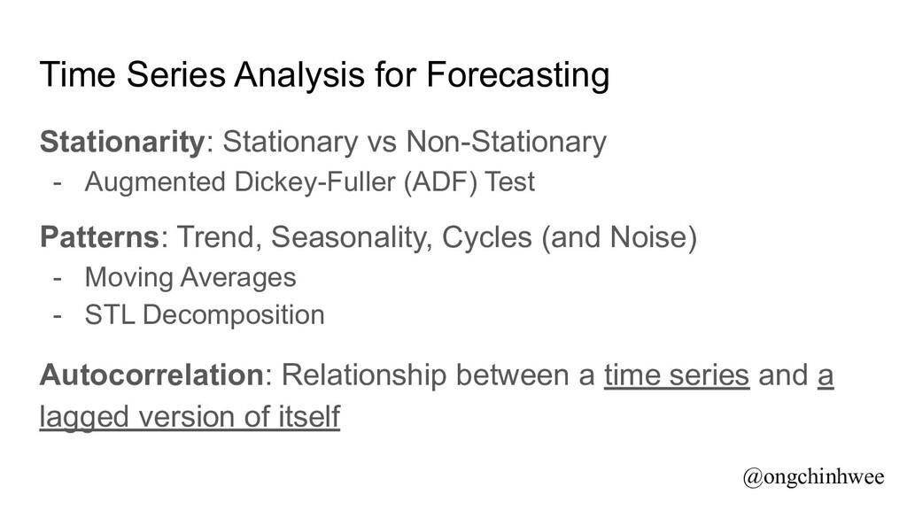 Time Series Analysis for Forecasting Stationari...