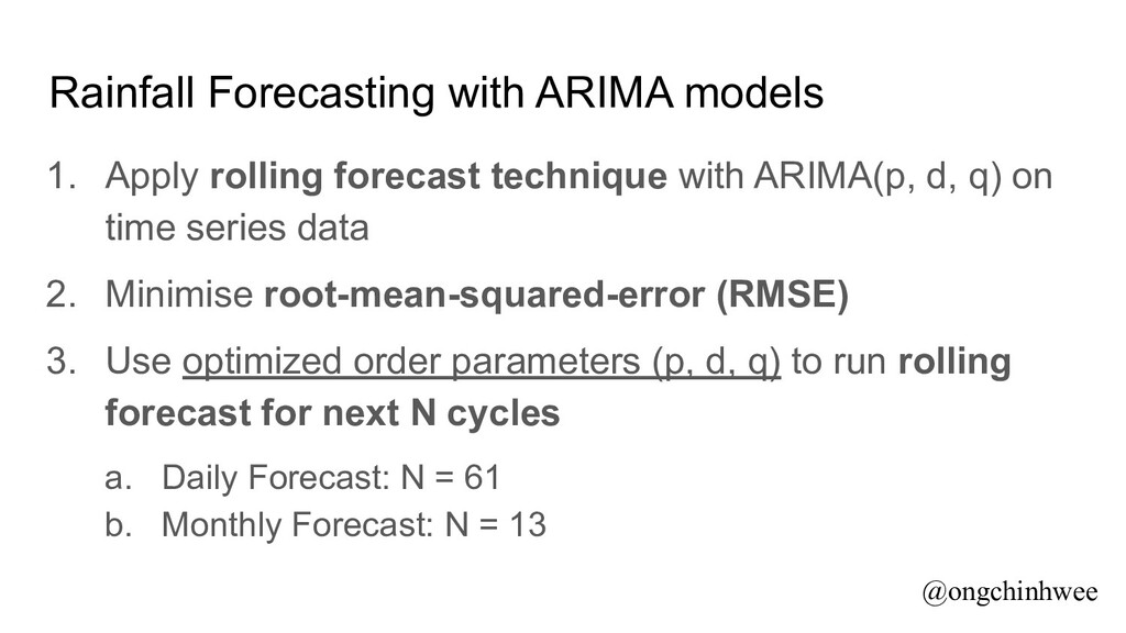 Rainfall Forecasting with ARIMA models 1. Apply...