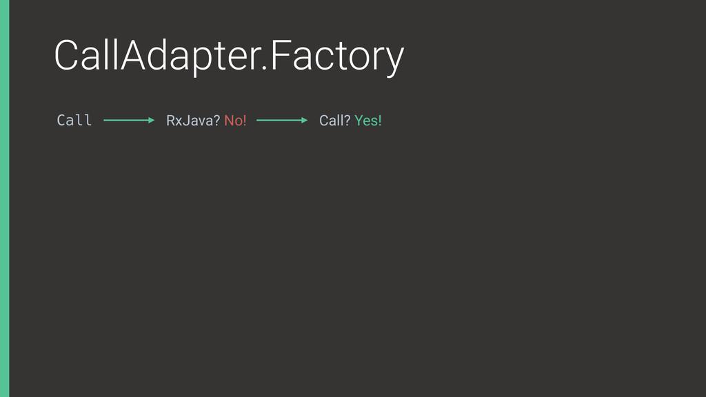 CallAdapter.Factory Call RxJava? No! Call? Yes!