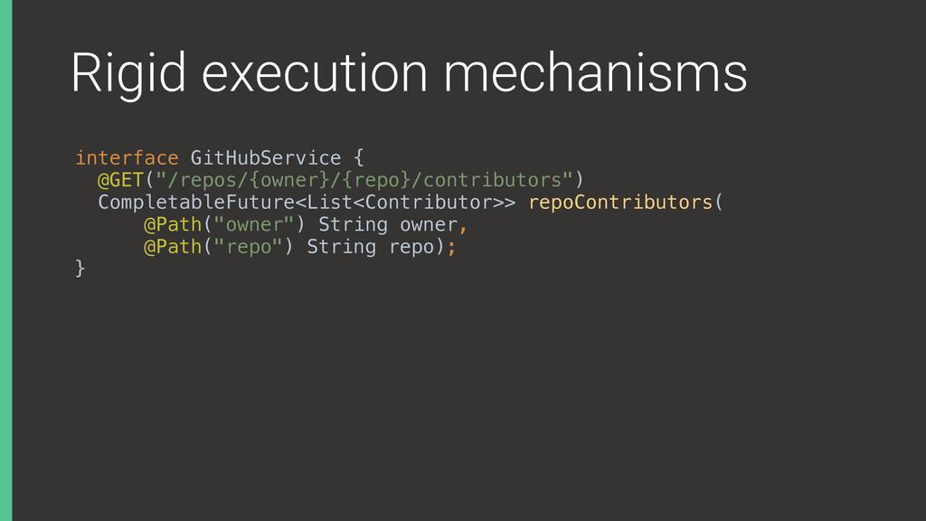 Rigid execution mechanisms interface GitHubServ...