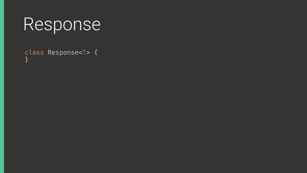 Response class Response<T> { }X