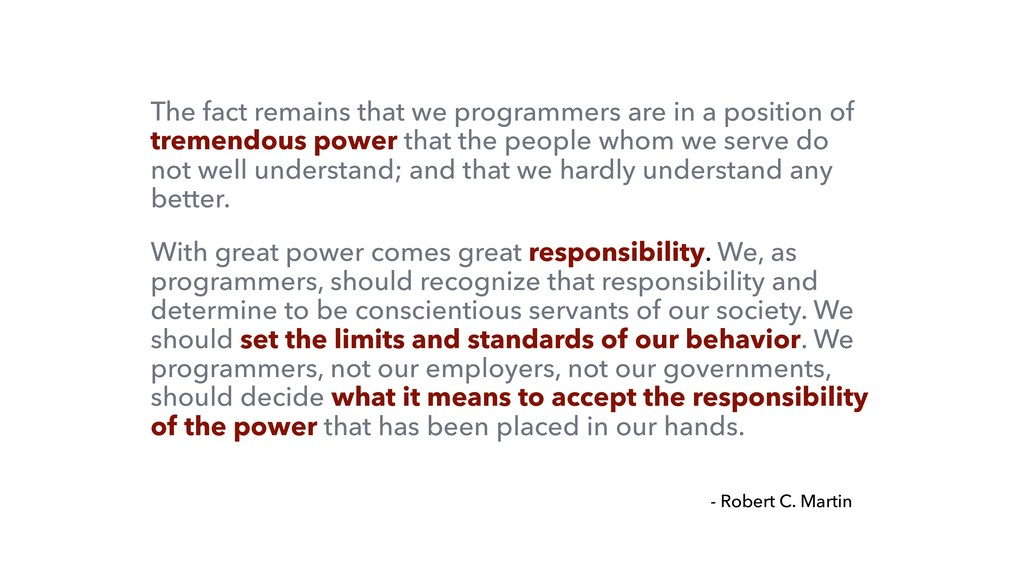 The fact remains that we programmers are in a p...