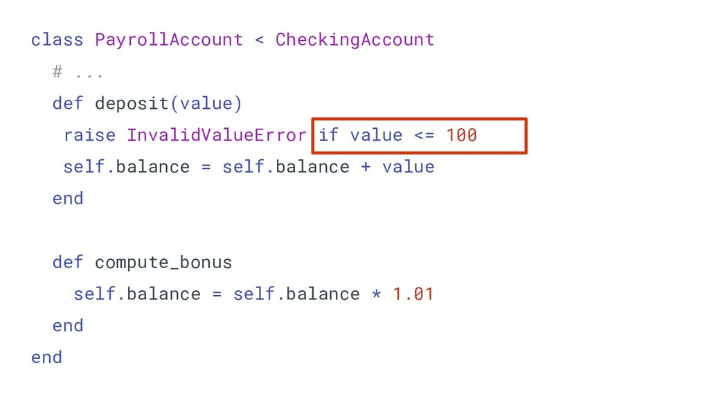 class PayrollAccount < CheckingAccount # ... de...