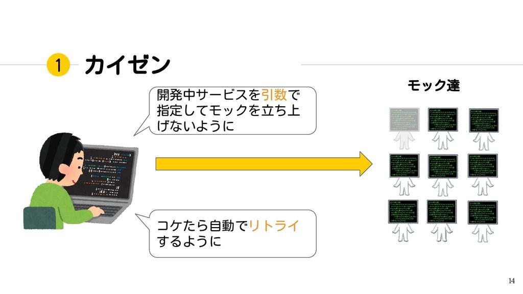 カイゼン 14 1 開発中サービスを引数で 指定してモックを立ち上 げないように コケたら自動...