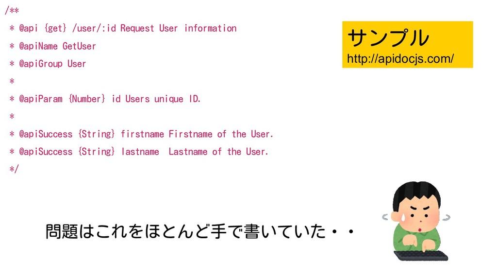 20 /** * @api {get} /user/:id Request User info...