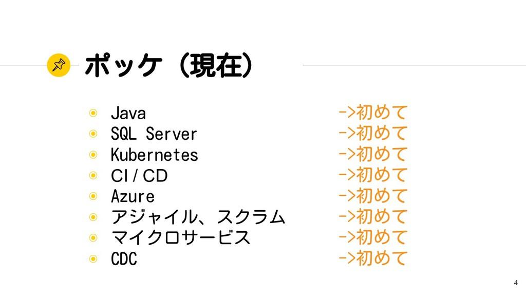 ポッケ(現在) ◉ Java ◉ SQL Server ◉ Kubernetes ◉ CI /...