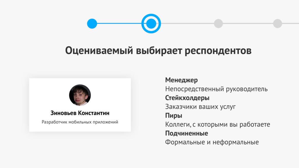Оцениваемый выбирает респондентов Зиновьев Конс...