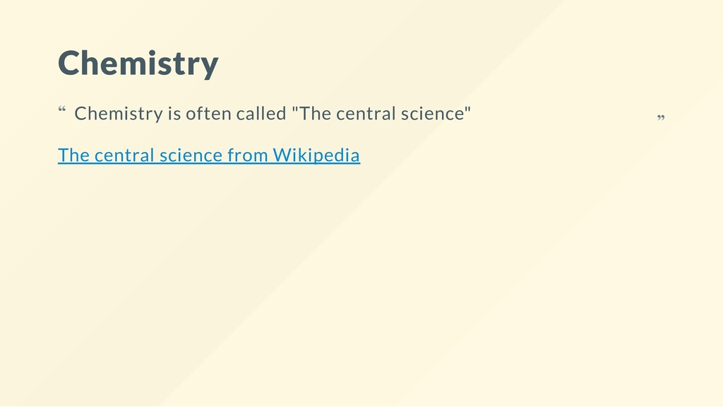 Chemistry The central science from Wikipedia Ch...