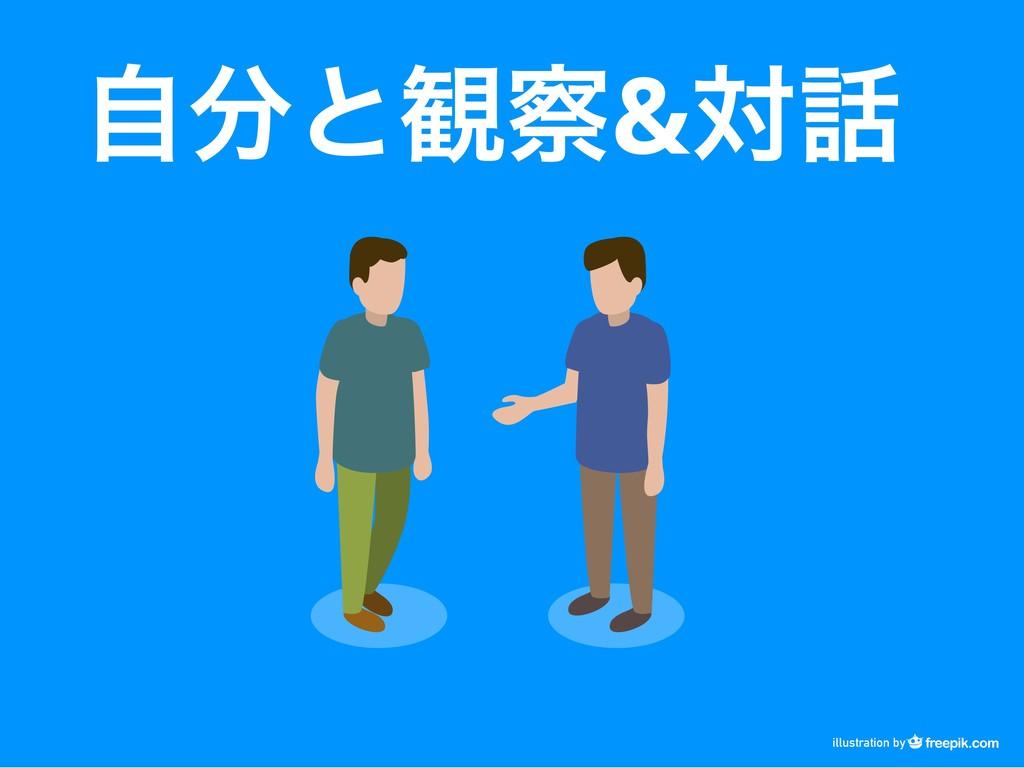自分と観察& 対話 illustration by
