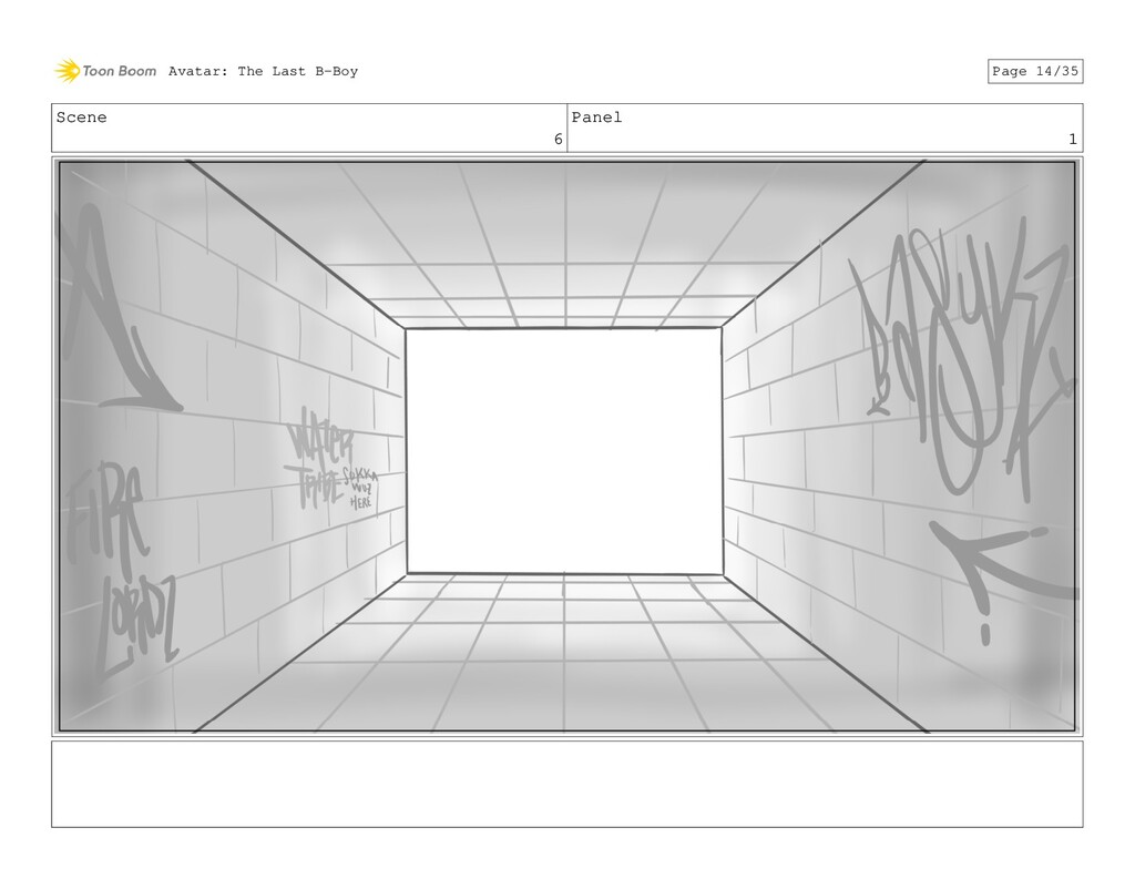 Scene 6 Panel 1 Avatar: The Last B-Boy Page 14/...