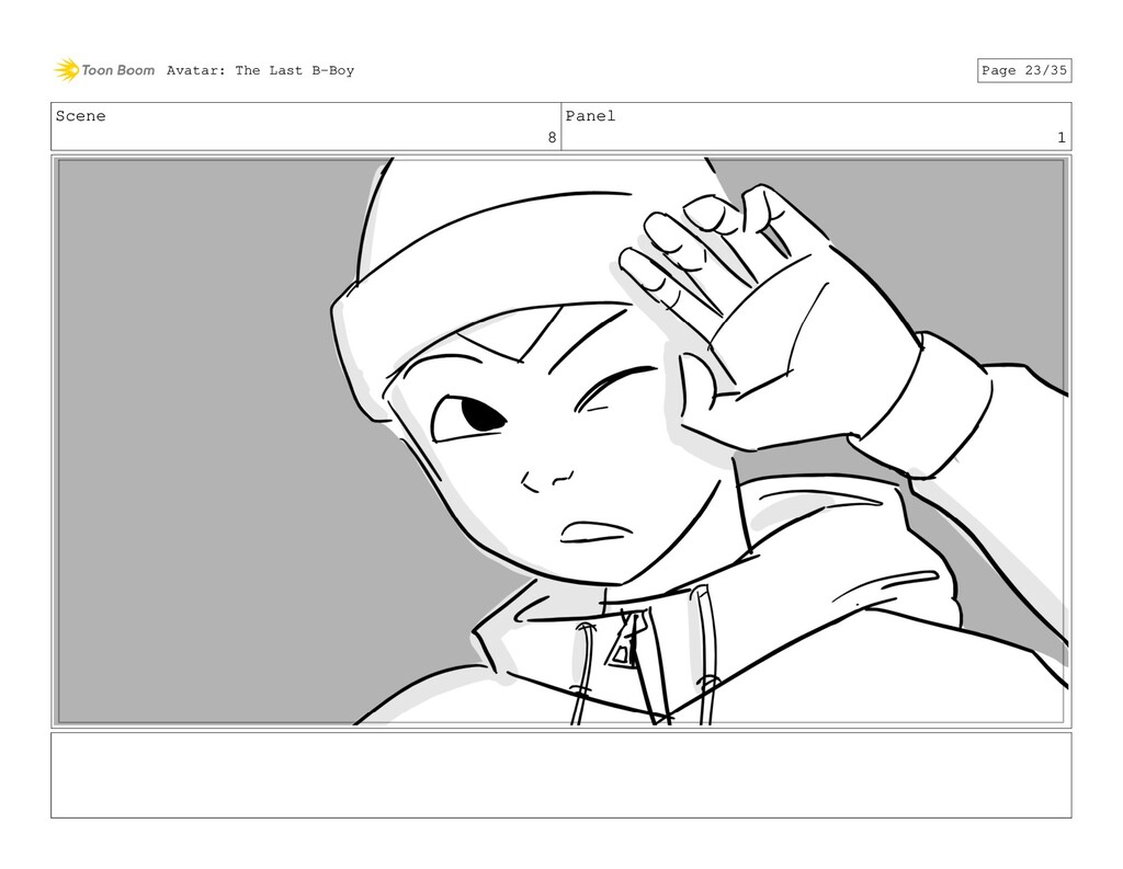 Scene 8 Panel 1 Avatar: The Last B-Boy Page 23/...