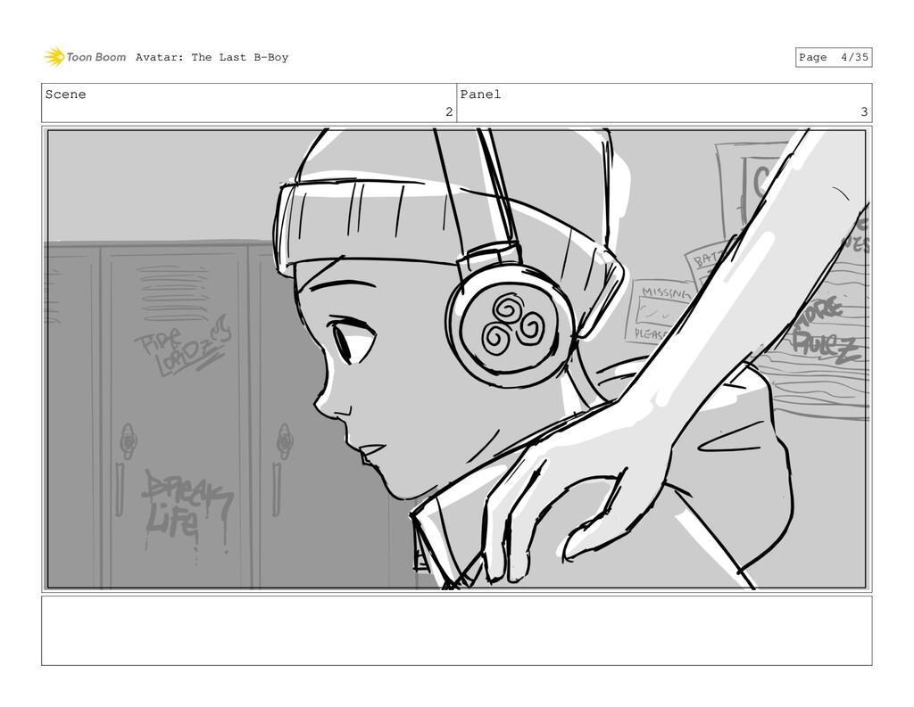 Scene 2 Panel 3 Avatar: The Last B-Boy Page 4/35