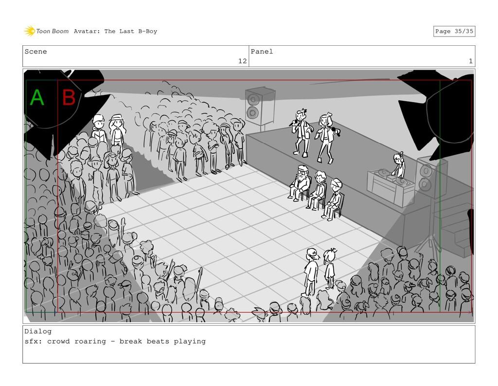 Scene 12 Panel 1 Dialog sfx: crowd roaring - br...