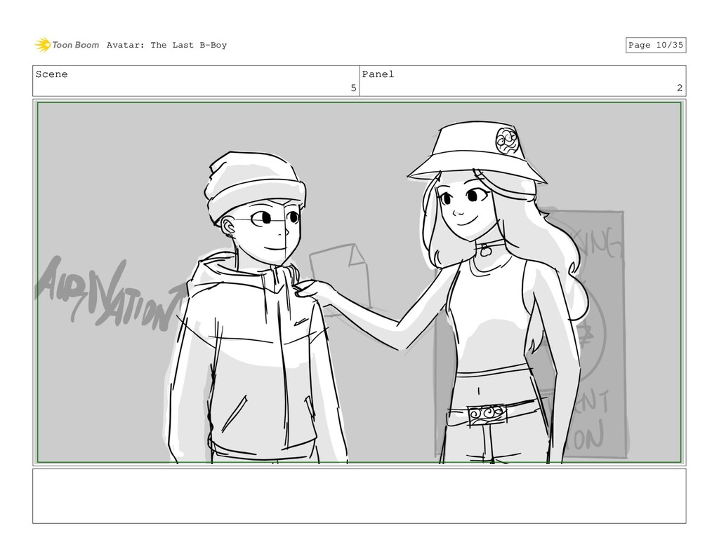 Scene 5 Panel 2 Avatar: The Last B-Boy Page 10/...