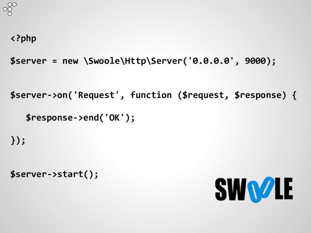 <?php $server = new \Swoole\Http\Server('0.0.0....